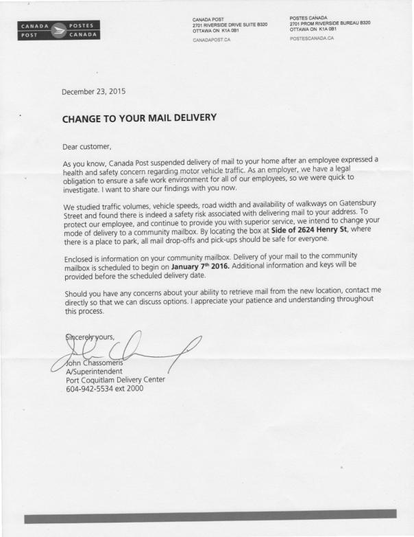 Dec23 Canada Post letter